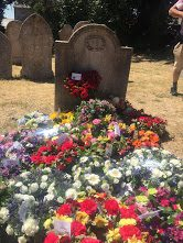 Resting place of James Hammett, these wreaths were laid after the annual festival.